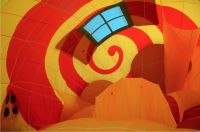 Inside a hot-air balloon