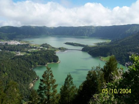 Twin lakes of Sete Cidades, Azores