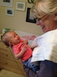 Julia and her grandmother, our daughter-in-law, Sidney