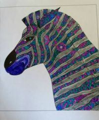 Zebra - coloring book