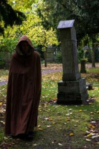 Monk in the Cemetery (Ex. Small)