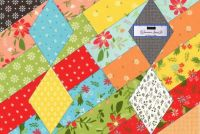 Fabric patchwork - large