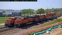 FMD BNSF-6810 & BNSF-7113 with Ft Madison & Mississippi River 45-pc