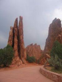 Garden of the Gods, Manitou Springs, Colorado, USA. Spot the rock climbers