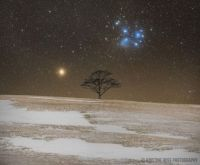 """Mars and the Pleiades Beyond Vinegar Hill"""