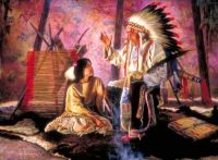 First Nations Chief & Young Squaw