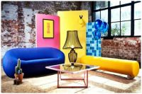 Colourful and Fun Furniture in a Warehouse Setting