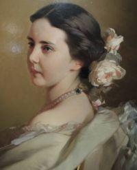 1850s Ekaterina Fed. Tutcheva by I. Makarov, detail