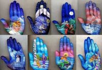 Amazing hand painting art
