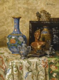 Still life with Asian vases