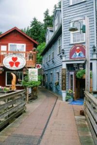 Creek Street in Ketchikan, Alaska, USA