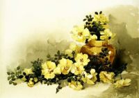 Yellow Blossoms Painting