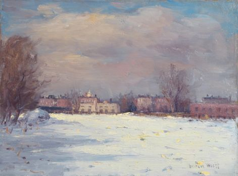 Snow Scene by GUSTAVE WOLFF