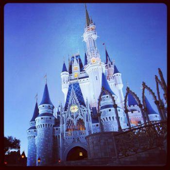 Disney Castle in blue