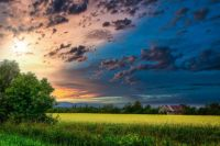 Nature's Countryside Sunset