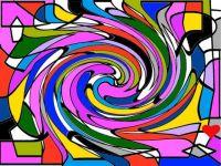 Swirled Geometrics - Medium