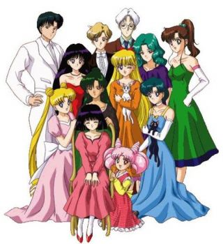 sailor moon & scouts dressed up