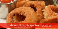 Today Is National Onion Rings Day!!