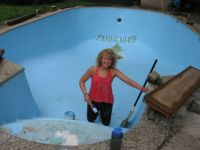Painting the pool!