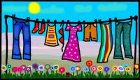 doing the laundry :-))