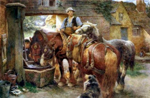 Watering the Horses by Charles James Adams (1859-1931)