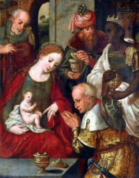 Pieter Coeke van Aelst (c1502-50) - Adoration of the Magi