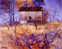Untitled (Chadds Ford landscape with barn), c.1915, N. C. Wyeth (1882-1945)