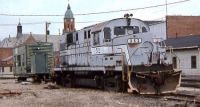 Wabash and Erie RR. ALCO RS11 352 at Defiance, OH. April 1996