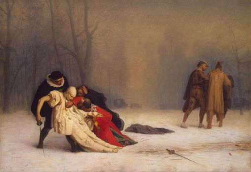 """Duel After a Masquerade Ball"" (1857) by Jean-Leon Gerome."