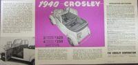 1940 Crosley Coupe & Sedan Sales Brochure