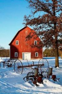 Red Barn, Old Farm Equipment