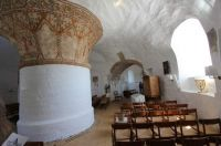 Inside Nyker church, Bornholm, Denmark