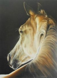 Beautiful horse, painting by Rob Langenberg