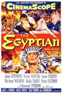THE EGYPTIAN - 1954 MOVIE POSTER EDMUND PURDOM, JEAN SIMMONS, VICTOR MATURE