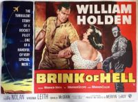 BRINK OF HELL - 1956 MOVIE POSTER  WILLIAM HOLDEN, LLOYD NOLAN