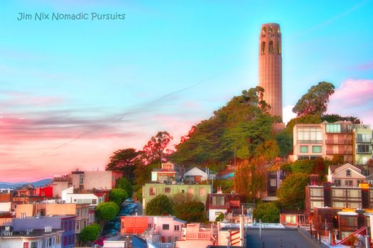 San Francisco Sunset at Coit Tower
