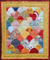Easter Eggheads Quilt - 525