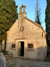Old church in Skrip, island of Brac