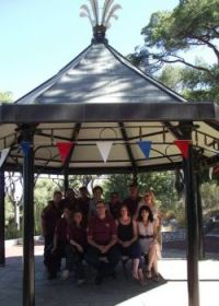 Staff from the Gibraltar Botanic Gardens