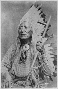 Washakie (Shoots-the-Buffalo-Running), a Shoshoni chief