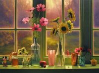 flowers on the window sill