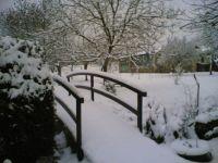 The bridge with snow