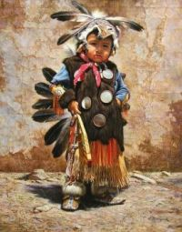 3  ~  'Little boy in traditional clothing'