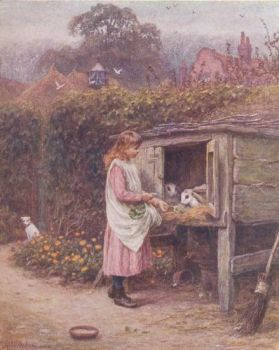 Rabbit Hutch by Helen Allingham