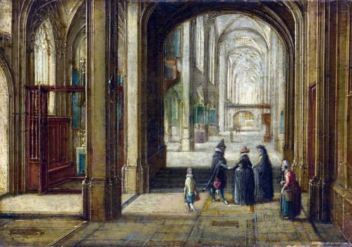 The Interior of a Gothic Church looking East - Hendrick van Steenwyck the Younger