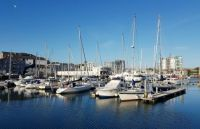 Yachts in the Plymouth Marina