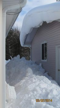 snow shovelled from house