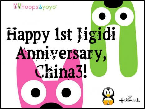 Happy 1st Jigidi Anniversary, China3!