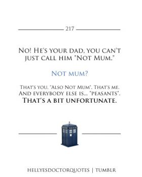 dr who quote