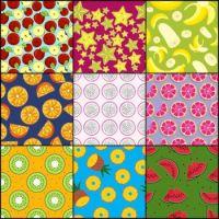 Sliced fruit patterns